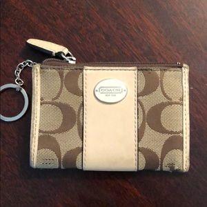 Coach key card chain